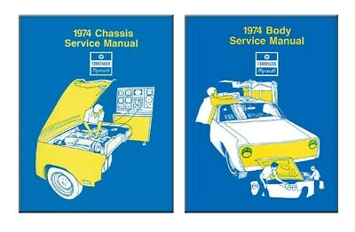 1974 Chrysler Plymouth Shop Service Repair Manual Engine Drivetrain Electrical
