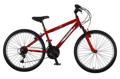 "Falcon Raptor Mountain Bike 24"" Boys Junior Front Suspension Bicycle 6Spd"