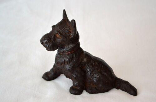 Scottish Terrier Dog Cast Iron Doorstop Scottie Figurine Statue