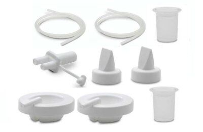 New AMEDA Spare Parts DIAPHRAGMS VALVES TUBING BOTTLE ADAPTER Baby Breast pump Ameda Tubing Adapter