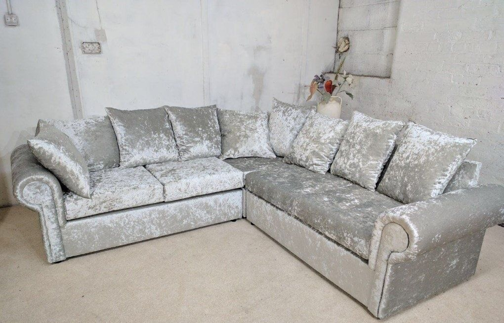 Luxury Crushvelvet Sofa 3 2 Seater 14128