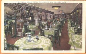 c1940 The Caveteria at Gunter Hotel San Antonio Texas TX postcard view