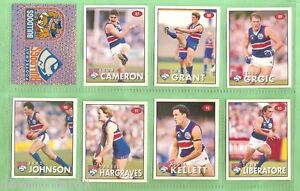1996-AFL-SELECT-STICKERS-STAND-UPS-FOOTSCRAY-BULLDOGS