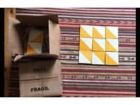 160 Handmade Harlequin Gold Mexican Tiles
