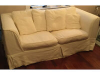 Cream Two Seater Settee