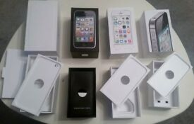 Various Original Apple iPhone Boxes in excellent condition