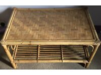 Solid Wicker Coffee Table in very good condition - collection Isleworth