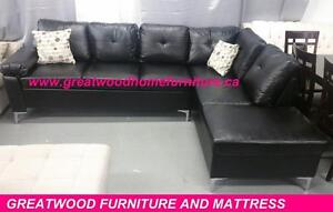 BRAND NEW..SECTIONAL SOFA WITH CHROME LEGS..$599