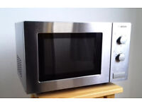Bosch microwave brushed steel, max 800W