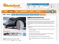 AutoSock Snow socks - A must for this weather