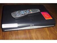 sky+ hd drx890 500gb wi-fi satellite box with card and remote