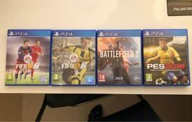 PS4 Games bundle, Battlefield, FIFA, PES