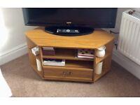 Corner TV unit, oak effect