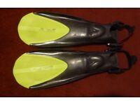 Pair of Technisub Idea 3 Scuba Diving Fins and Aqua Lung Boots