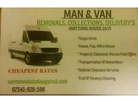 Man & Van 24/7 *Removal's,Collections,Delivery's, Waste disposal