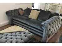DFS loch leven country living sofa, chair and footstool