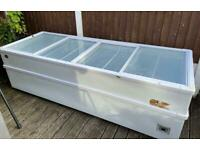 Extra Large Commercial Glass Slide Chest Freezer