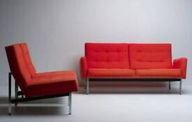 Sofa and chairs - Early Parker Knoll parallel Bars No 56