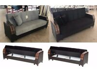 FasTER SDeliverY OFFER - 4 , COLOURS - NeW TURKISH SOFA BED sofa bed with storage + 2 FREE CUSHION