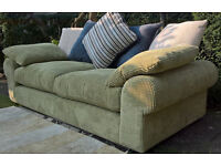 A new 3 Seater Lime Green Scatter Back Sofa