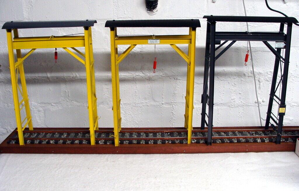 LGB/ Spur G - Set (3x) Portalkräne/Bockkran Metall mit Lastenwinde - RAR!