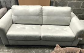 Suede Deluxe Sofa Bed and Storage Footstool