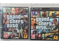 SONY PLAYSTATION 3 PS3 GTA 5 V GTA5 & GTA 4 IV GAMES NOT PS4 XBOX
