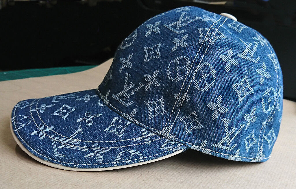Louis Vuitton LV Denim Blue Monogram Baseball Cap NEW  5e29e12fe94