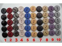 Clearance of sewing cottons, buttons, zips, laces from