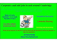 Carpenter and joinery/handyman