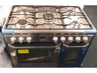 New Jhon lewis 90 cm wide dual fuel double oven and grill cooker