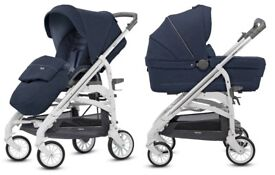 ITALIAN INGLESINA NAVY BLUE PUSHCHAIR 0-36MONTHS WAS £500 NOW £120 (ONLY USED TWICE)