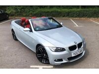 BMW 3 SERIES M SPORT CONVERTIBLE 320i HARDTOP RED LEATHER SAT NAV M3 ALLOYS NOT A5 A4 330 325