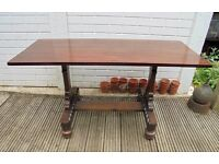 Vintage Mahogany Coffee / Side Table made from old folio stand