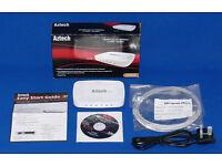Aztech HL125G 500 Mbps HomePlug AV Powerline Adaptor with Built-in 4-Port Gigabit Ethernet Switch