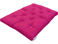 Futon Double Mattress Roll Out Fold Up Spare Guest Bed Pink Fuchsia 190 x 140cm