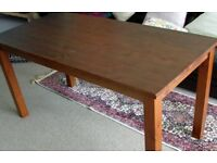 TWO DINING TABLES ( SOLID WOOD )