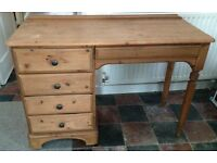 Small Welsh pine dressing table