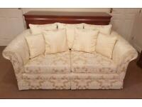 2 seater sofa, armchair and footstool (with storage)
