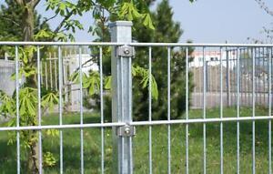 Gitterzaun 20 m 0,83m Stahlmattenzaun Doppelstab Zaun Metallgartenzaun Zierzaun