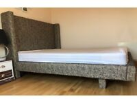 Luxury King Size Bed with mattress - Excellent Condition - Can Deliver -RRP: £569.99