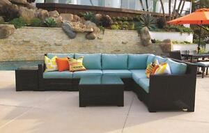 Provence Wicker Sunbrella L-Shaped Sectional Sofa! Same Day Pick-up in Kamloops