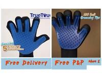 Brush gloves PET massage and removal dirt