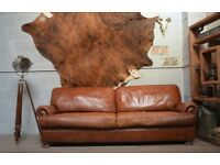 JOHN LEWIS TETRAD CORDOBA 4 SEATER SOFA BROWN