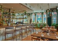 Passionate BARTENDERS, BAR MANAGERS and BARISTAS for amazing venue in Notting Hill