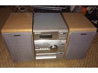 Old School Sony micro hifi CMT-CP1 cassette deck, twin speakers