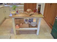 Butchers block / island kitchen table. Large.