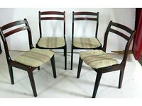 A good 20th century set of four quality Retro dining room chairs