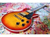 GUITAR LES PAUL SUNBURST COPY BY NEVADA PLUS GIG SOFT CASE IN GREAT CONDITION