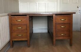 Traditional wooden partner desk